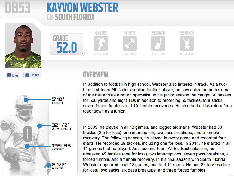 Kayvon Webster Elevates Draft Stock at NFL Combine   by Matthew Manuri   SoFloBulls.com  