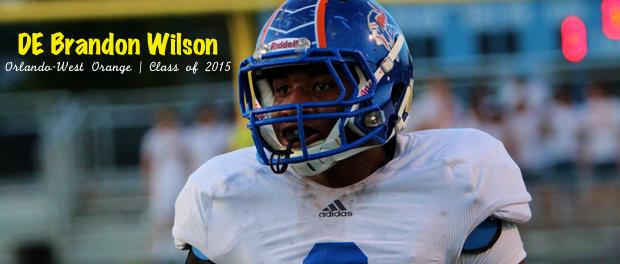 West Orange DE Brandon Wilson | Class of 2015 | SoFloBulls Blog