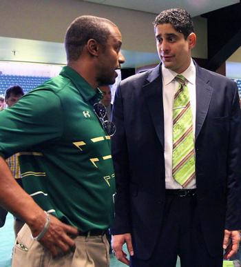 Orlando Antigua and Willie Taggart | South Florida Bulls 2014