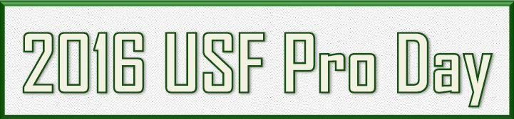 2016 USF Pro Day Logo by MJM