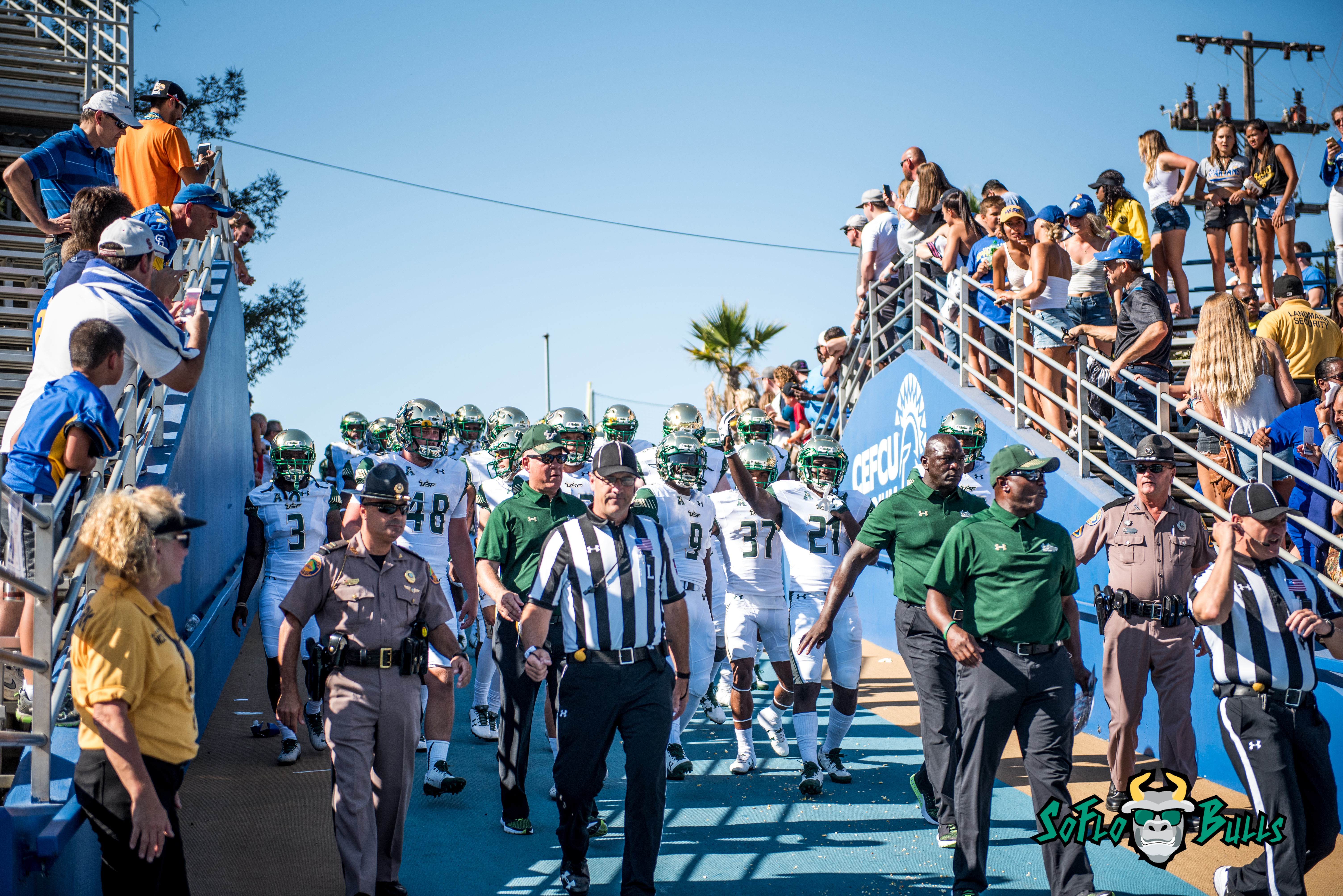 37 - USF vs. San Jose State 2017 - USF QB Quinton Flowers Nate Ferguson Khalid McGee by Dennis Akers | SoFloBulls.com (6010x4016)